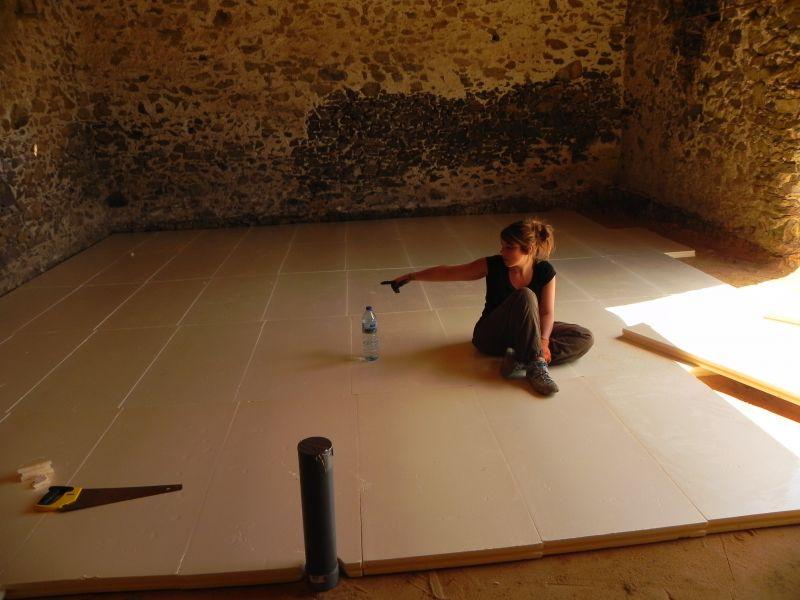 Abracadabra et notre grange se transormera en maison coulage de la dalle b ton - Couler une dalle beton ...