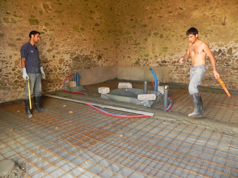 Abracadabra et notre grange se transormera en maison for Couler dalle beton garage